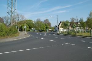 Blick auf die Kreuzung Volkardeyer Straße