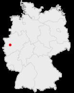 Lage der Stadt Ratingen in Deutschland
